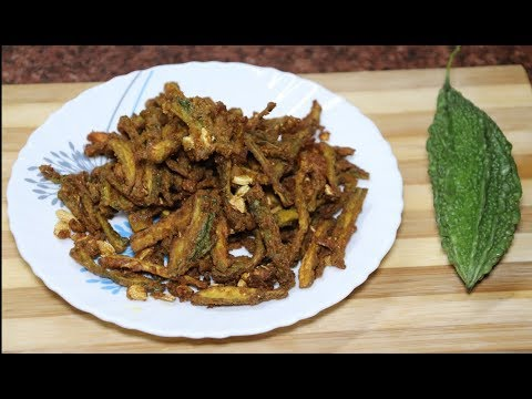 करेला बेसन फ्राई   Crispy Karela Fry Recipe   Bitter Gourd Fry   How to make Karela Fry with Besan