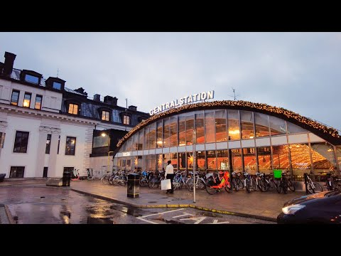 Walking in Stockholm: Vasabron - City Hall - Central Station (4K)