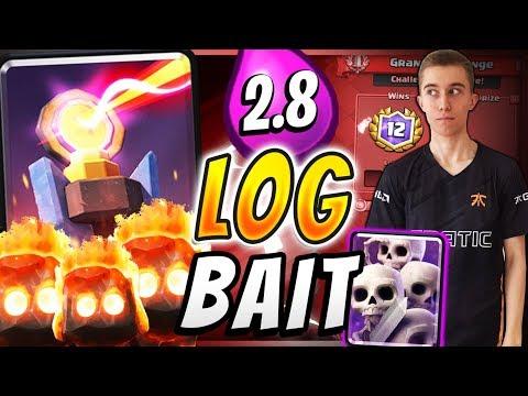 INFERNO LOG BAIT DECK w/  2.8 FAST CYCLE! — Clash Royale