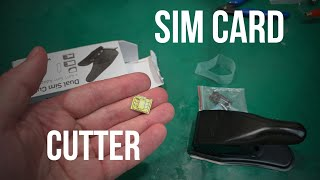 Testing cheap SIM Card Cutter dual 2 in 1 Sim to microSim  & microSim to nanoSim