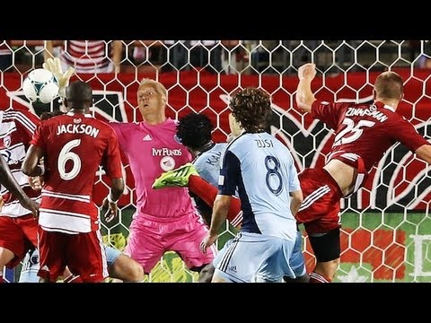 GOAL: Walker Zimmerman scores dramatic equalizer | FC Dallas vs Sporting KC June 22, 2013