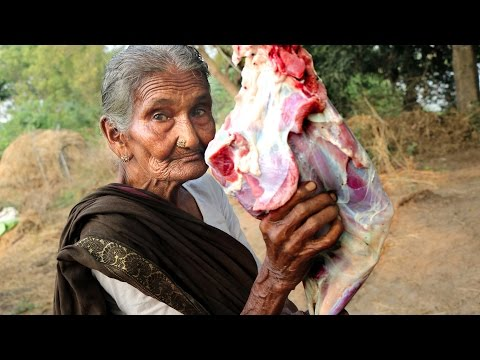My 105 Years Grandma's Yummy Mutton Recipe | World Best Mutton Curry By My Grandma's | Country Foods
