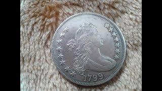 Американская фальшивая монета. Серебряный подсвечник