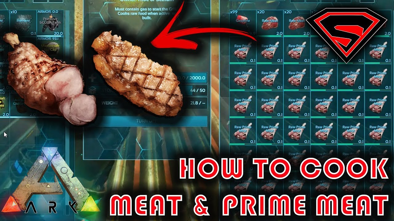Ark How To Cook Meat Cooking Meat Prime Meat By Using A