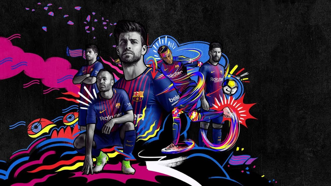 12295b48e53 The new FC Barcelona kit for the 2017/18 season - YouTube
