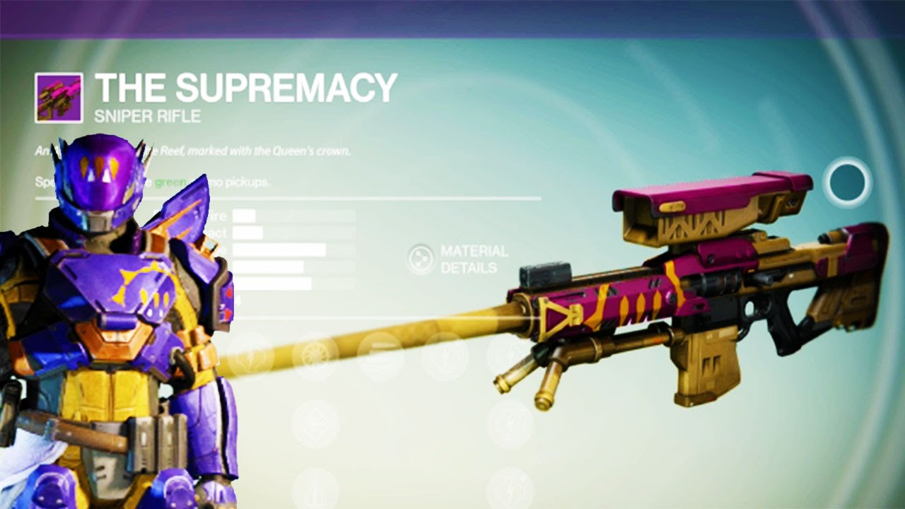 guns of destiny 7 first legendary gun the supremacy sniper