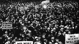 Wendell Willkie, the Republican candidate for 1940 US Presidential elections, dur...HD Stock Footage