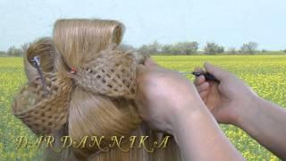 Прическа БАНТ из волос легко и просто.Hair Bow of hair quickly and easily.