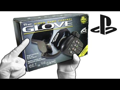 """PlayStation """"GLOVE"""" Controller! Unboxing Rare Single Handed Gamepad PS1"""
