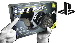 "PlayStation ""GLOVE"" Controller! Unboxing Rare Single Handed Gamepad PS1"