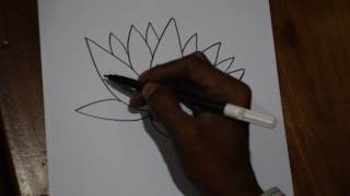 How To Draw National Flower