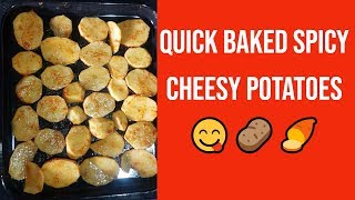 Spicy Oven Baked Potatoes | Cheesy Potatoes | Easiest Way To Bake