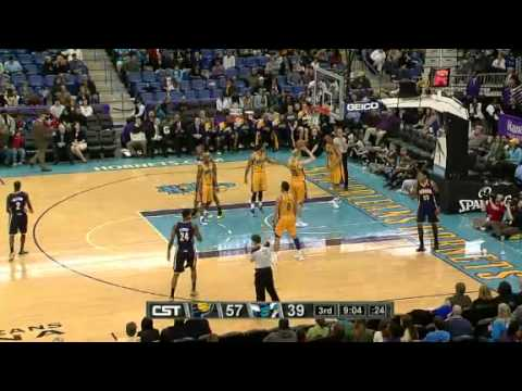 Pacers vs. Hornets 2012 highlights [3-3-2012]