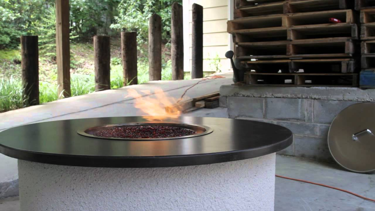 Vulcan firepit ethanol outdoor firepit youtube for Alcohol fire pit