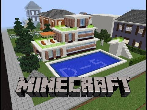 Minecraft havuzlu villa yap m 2 youtube - Minecraft villa ...