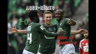 AS Saint-Etienne - Nîmes Olympique 2-0 Les buts du match 32èmes de finale de Coupe de France