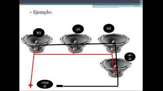 Como conectar 4 bocinas en serie