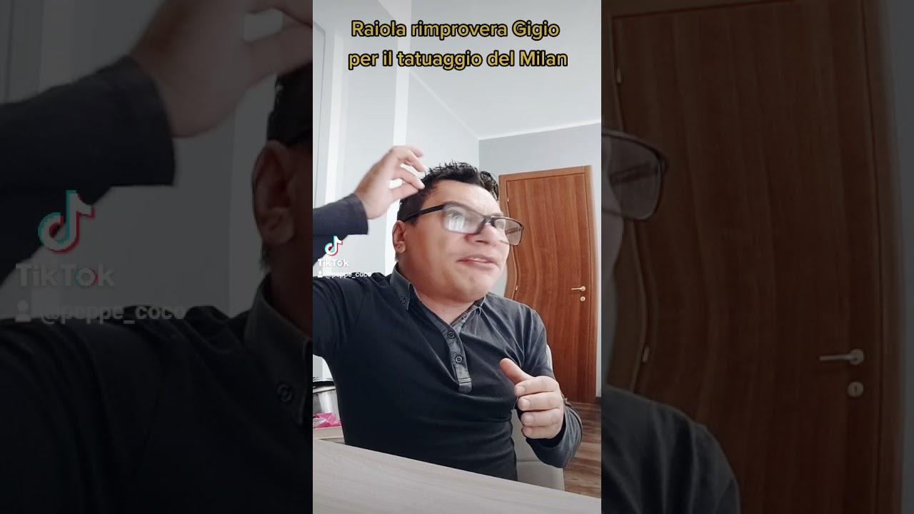Raiola rimprovera Gigio per il tatuaggio del Milan (parodia)