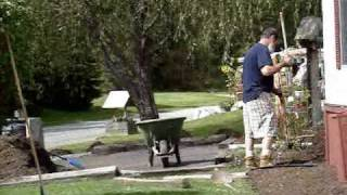"""""""Disabled?..."""" Shoveling Mulch with her husband (who """"doesn"""
