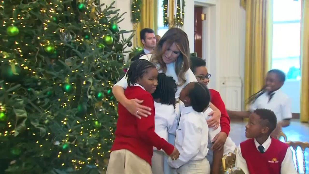 Weihnachtsdeko Vor Dem Haus.Advent Im Weißen Haus Manche Fürchten Sich Vor Melania Tumps Weihnachtsdeko