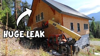 Our DREAM HOUSE Has A MASSIVE LEAK! (Foaming SIPs)