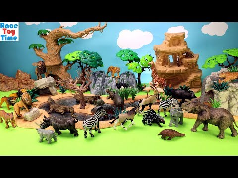 Thumbnail: Toy Wild Animals in Schleich Great Adventure Waterhole Playset Fun Toys For Kids