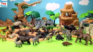 Repeat youtube video Toy Wild Animals in Schleich Great Adventure Waterhole Playset Fun Toys For Kids