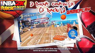 3 POINT CONTEST PVP (3racks) GAMEPLAY IN NBA 2K PLAYGROUNDS MOBILE BETA