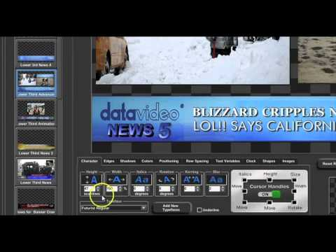 Datavideo CG350 Character Generator Software Overview | Full Compass