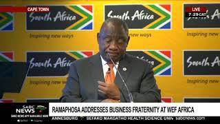 Pres. Ramaphosa addresses pre-WEFA breakfast hosted by Brand SA