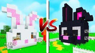 CASA CHIQUINHA VS. CASA CHIQUINHO 🐰 - Minecraft Casa vs Casa
