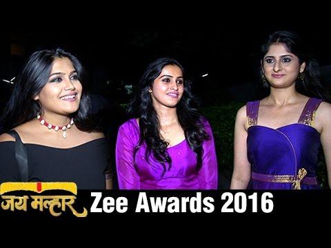 Jai Malhar Team At Zee Marathi Awards 2016 | Devdatta Nage , Surabhi Hande Isha Keskar