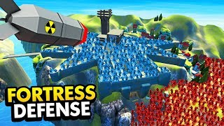 RED vs BLUE FORTRESS DEFENSE *NUKE* In Ravenfield (Ravenfield Funny Gameplay)