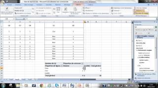 Le traitement d'une enquête à l'aide d'Excel - 3. La réalisation d'un tri croisé
