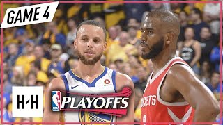 Stephen Curry vs Chris Paul DUEL Full Game 4 Highlights Rockets vs Warriors 2018 NBA Playoffs WCF