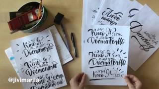 Brush-pen calligraphy. Калиграфия браш-пеном во Владивостоке