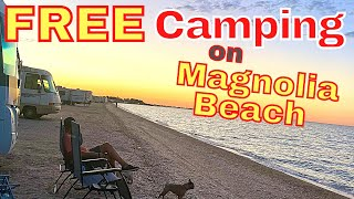 Best FREE RV Beach CAMPING | Magnolia Beach, Texas | RV Living