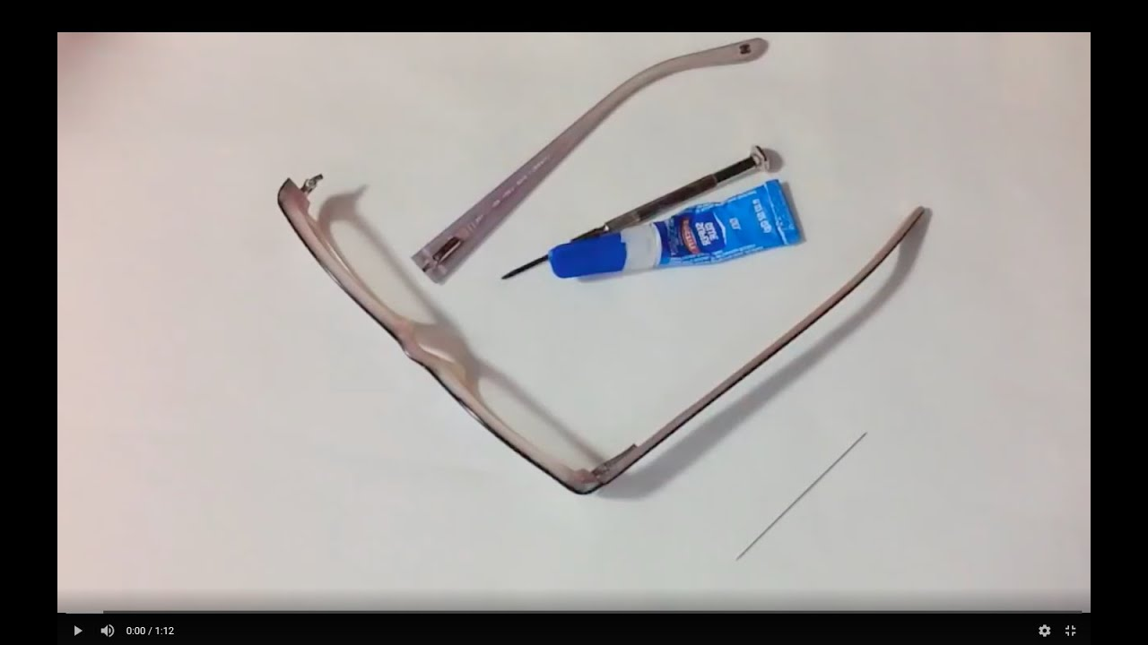 9f2ae559b76 How To Fix Broken Glasses Arm - YouTube
