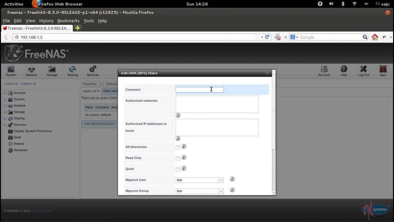 How To Setup and Configure NFS Share In FreeNAS 8 3