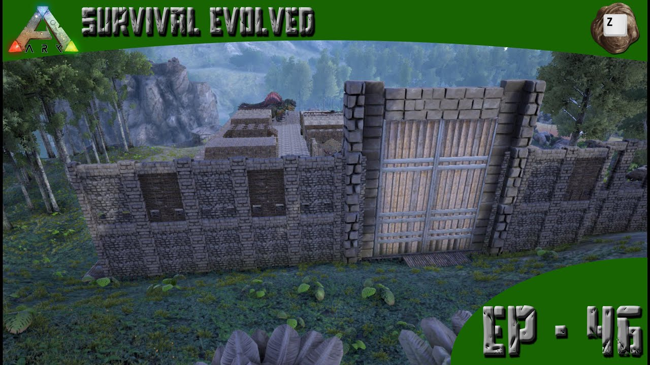 ark: survival evolved - wall designing - series z - ep-46 - youtube