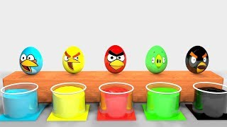 Learn Colors with Bottle Milk and Cartoon Egg