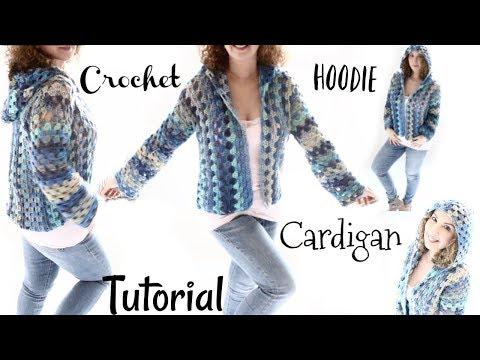 Short Hoodie Caribbean Queen  Cardigan Crochet Tutorial