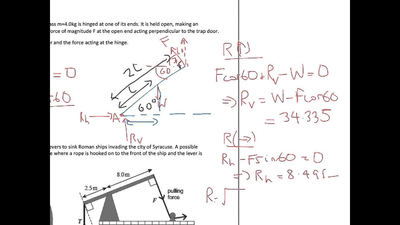 A Level Physics: AQA: Moments Problem Review: Harder Questions