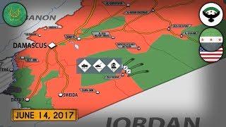 15 июня 2017. Военная обстановка в Сирии. Атака американских сил на сирийцев. Русский перевод.