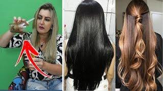 Como ENGROSSAR, dar VOLUME, selar as Cutículas do cabelo e fazer ele crescer