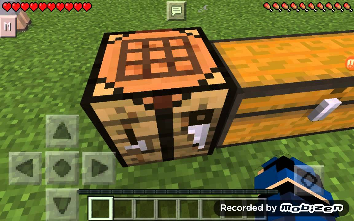 Minecraft Pe Crafting Table Eşya Yapımı Youtube