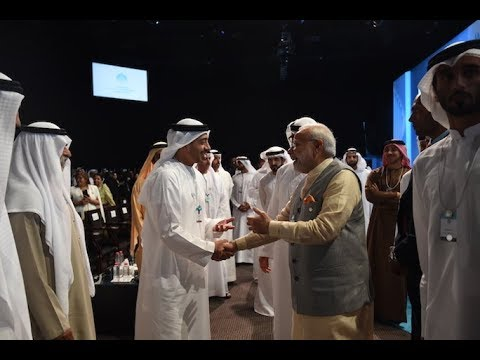 PM Modi at the inauguration of World Government Summit in UAE