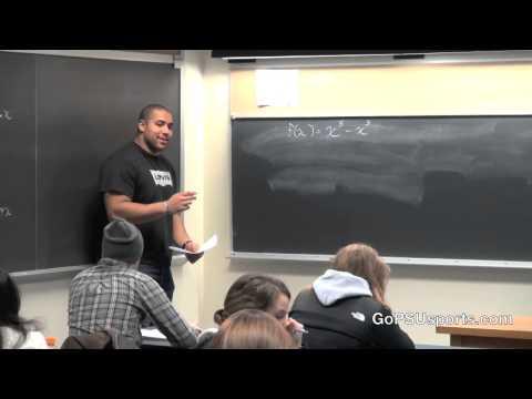 Penn State Football - John Urschel Teaching Math