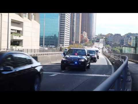 US Vice President Mike Pence motorcade in Sydney,Australia.