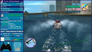 GTA Vice City All Missions Speedrun - Hugo_One Twitch Stream - 5/21/2019